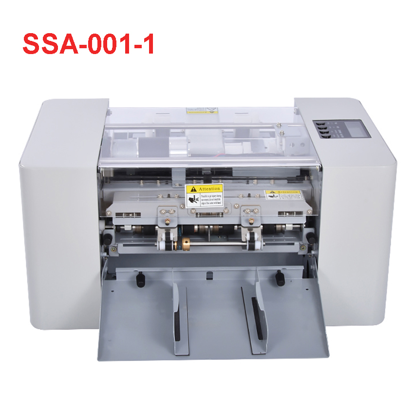 A4 Size Automatic Business Card Cutting Machine Cutter Multi-Function Electric Paper Slitting Machine,Paper Trimmer SSA-001-1 iron air pressure paper slitting machine blade holder for sale price