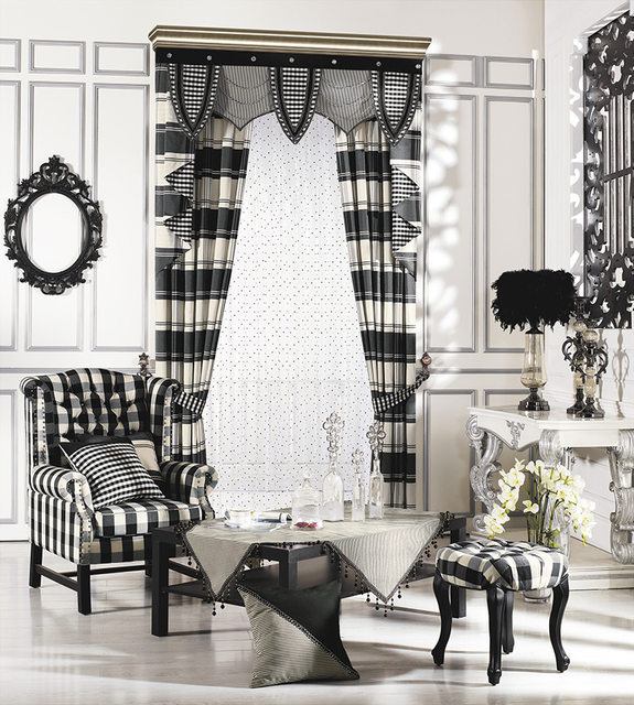 The New Plaid Checkered Curtains New Curtain Fabric Screens Bedroom, Living  Room Curtains