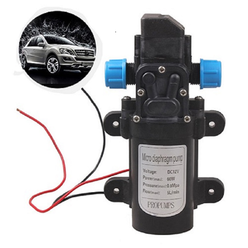 DC12V 60W Micro Electric Diaphragm Water Pump Automatic Switch 5L/min High Pressure Car Washing Spray Self-priming Water Pump