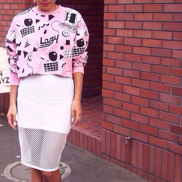 Harajuku Print Crop Top Women Hip Hop Sweatshirt Tumblr Soft