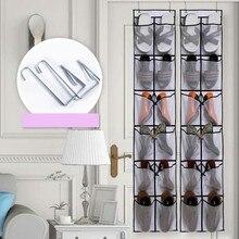 Бытовой не трикотажный склад мешок 12 Сетки увеличить в крупную клетку расширение двери хранения подвесные органайзеры стойки для твердой сумки