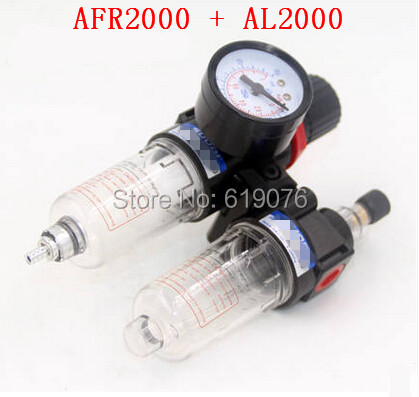 AFC2000 G1/4 Air Filter Regulator Combination Lubricator ,FRL Two Union Treatment ,AFR2000 + AL2000 afc2000 g1 4 air filter regulator combination lubricator frl two union treatment afr2000 al2000