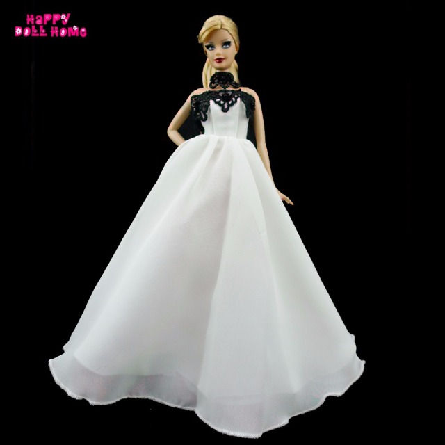 17ab89221ae47 Handmade Dinner Party Dress Princess Gown Outfit Clothes For Barbie Doll  For Vintage Doll Accessories With Necklace As Free Gift-in Dolls  Accessories ...