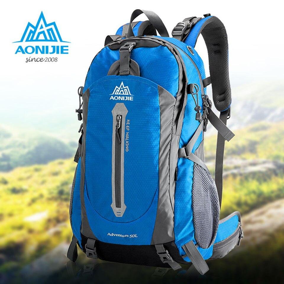 купить AONIJIE Camping Hiking Backpack Sports Bag Travel Trekk Rucksack Mountain Climb Equipment 40 50L for Men Women males Teengers по цене 2369.71 рублей