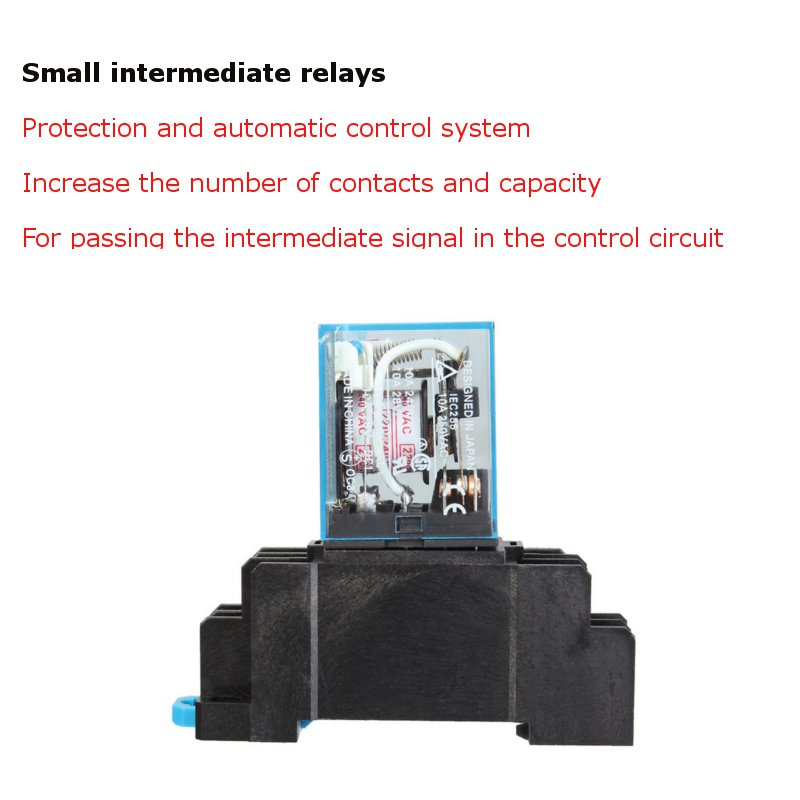 AC 220V 10A Coil Power Electric Relay For LED Indicator With ...