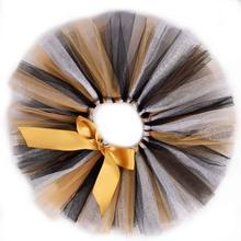 Новая пушистая юбка-пачка для маленьких девочек, черный/Серебряный/Золотой праздничный костюм для первого дня рождения, фатиновые пачки для малышей, Newborn-5T 6 лет