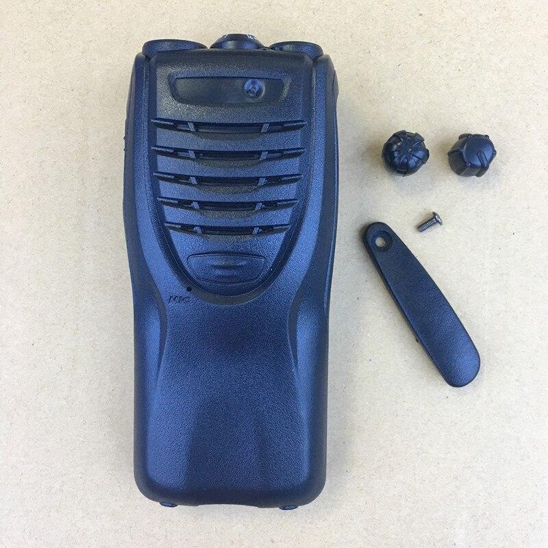 Housing Shell Front Case For Kenwood TK3307/2307 TK3302/2302 Walkie Talkie With Konbs Logo Stickers Dust Cover Battery Lock