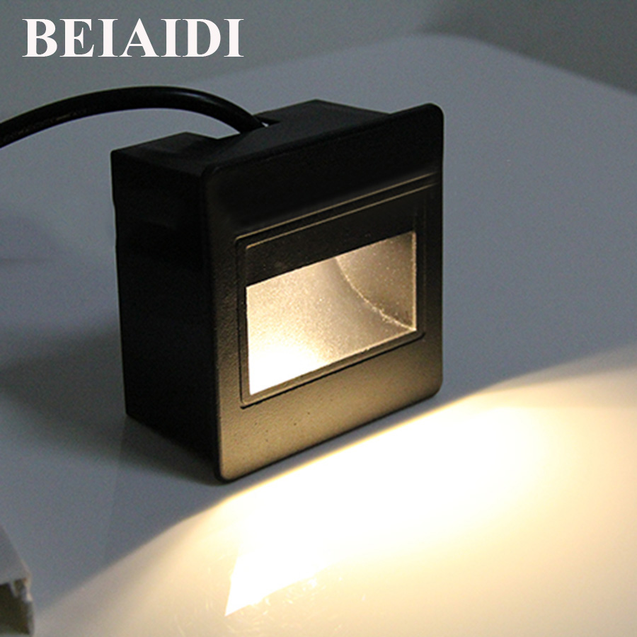 BEIAIDI 6pc Waterproof LED Corner Lamp Step Stair Light 3W 5W High end Villa Hotel embedded LED Footlights Outdoor Stairway Lamp|Outdoor Wall Lamps| |  - title=