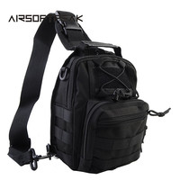 1000D Nylon Tactical Army Molle Low Profile Shoulder Bag Adjustable Strap Waist Pouch Handbag Hunting Bags Combat Gear