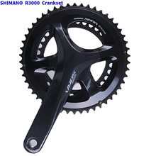 Shimano Sora FC R3000 2x9 ความเร็ว Chainset Crankset 170mmx50/34T R3000 Hollowtech II Crankset BB RS500(China)