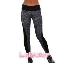 цены на Women Trousers Workout Fitness Leggings Pants Fashion women's Sexy Skinny Faux Leather High Waist Legging Patchwork Pant Black  в интернет-магазинах