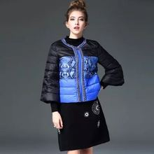 New 2017 European Autumn/Winter Chains 7 Points Sleeve Short Thin Ladies Coat