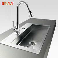 Freeshipping Pull Out Spray Swivel Kitchen Faucet LH 8079