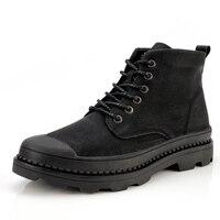 2019 Spring Breathable And Warm Fur Winter Boots Men Black Genuine Leather Men Boots Dr Martins Men Shoes Plus Size 38 47