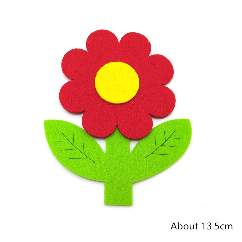 Wishmetyou 5 Pcs Lucu Warna Warni Bunga Kain Bukan Tenunan Merasa