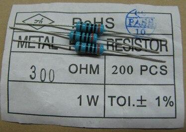 1 Вт 1R-1M 1 Вт 1ом до 1 м 1 Вт 1R до 1 м 1 Вт 1 Вт металлический пленочный резистор 1% 200 шт./лот Бесплатная доставка 1 Вт 100R 200R 56R 47R