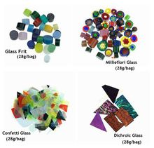 Free Shipping 8bags/lot Microwave Kiln Accessories COE90 Fusing Glass In Micorwave Kiln(China)