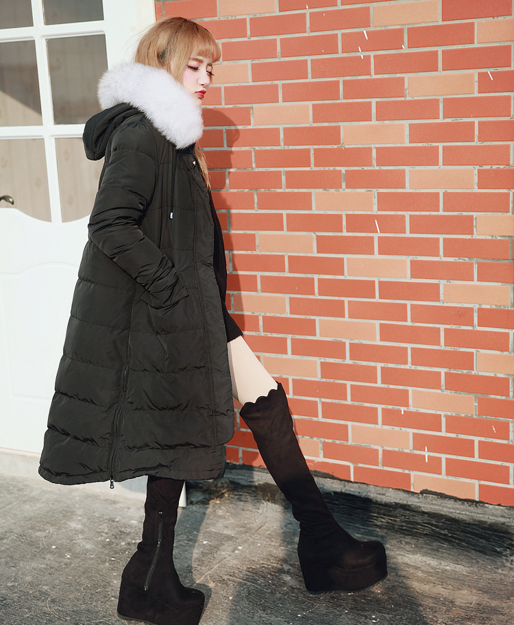 Princess sweet lolita grey and black feather coat BOBON21 white feather warm ultra light thin jacket thick windshield C1418