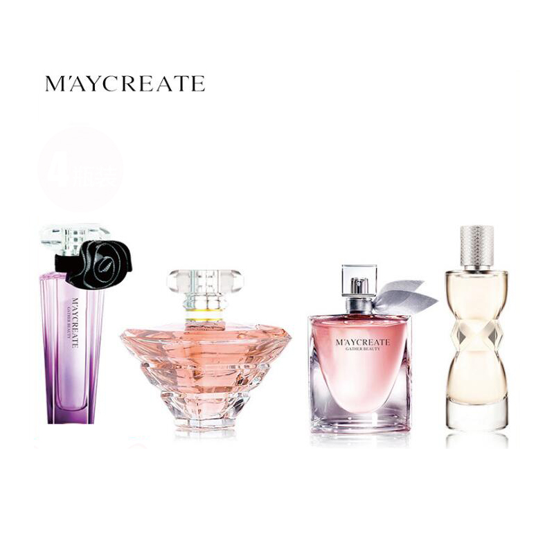 MayCreate 1Set 4pcs Women Deodorant Fragrance Atomizer Spay Long lasting Elegant Refreshing Flower Aromatic Water