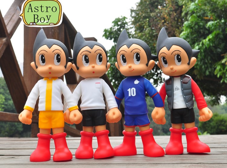 Anime Astro Boy Figure Toys Tetsuwan Atom Jeans /World ASTRO BOY PVC Action Figures Toy for kids 31cm  Free Shipping free shipping 2016 new 13pcs set hello kitty action figure anime kids toys kids toys for girls play house toys gifts