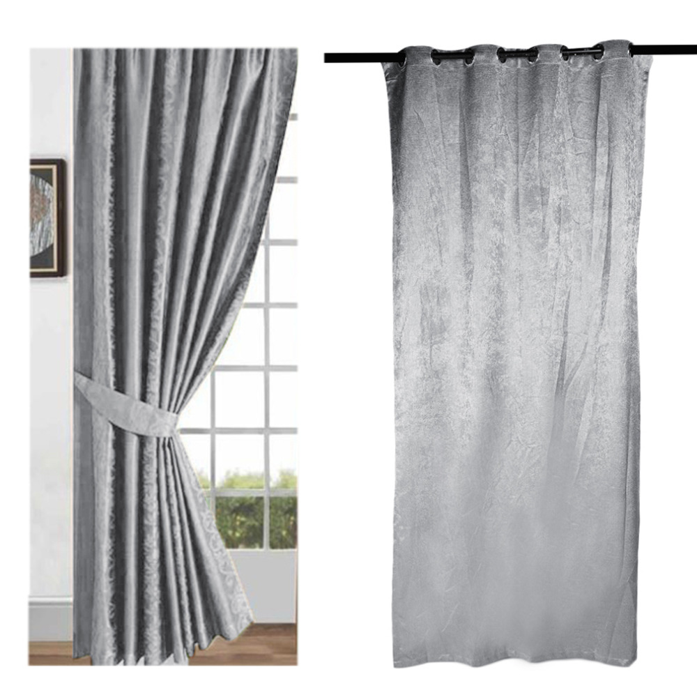 Cheap grey curtains - High Quality Custom Made Solid Color Tree Design Grey Window Screening Drape Hook Tube Style Tulle Sheer Curtain Style 52 84