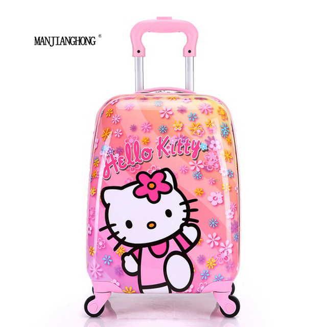 16inch 2016 new ABS+PC cartoon child suitcase/free shipping high quality cartoon Luggage /Boy and Girl Cartoon trolley case box