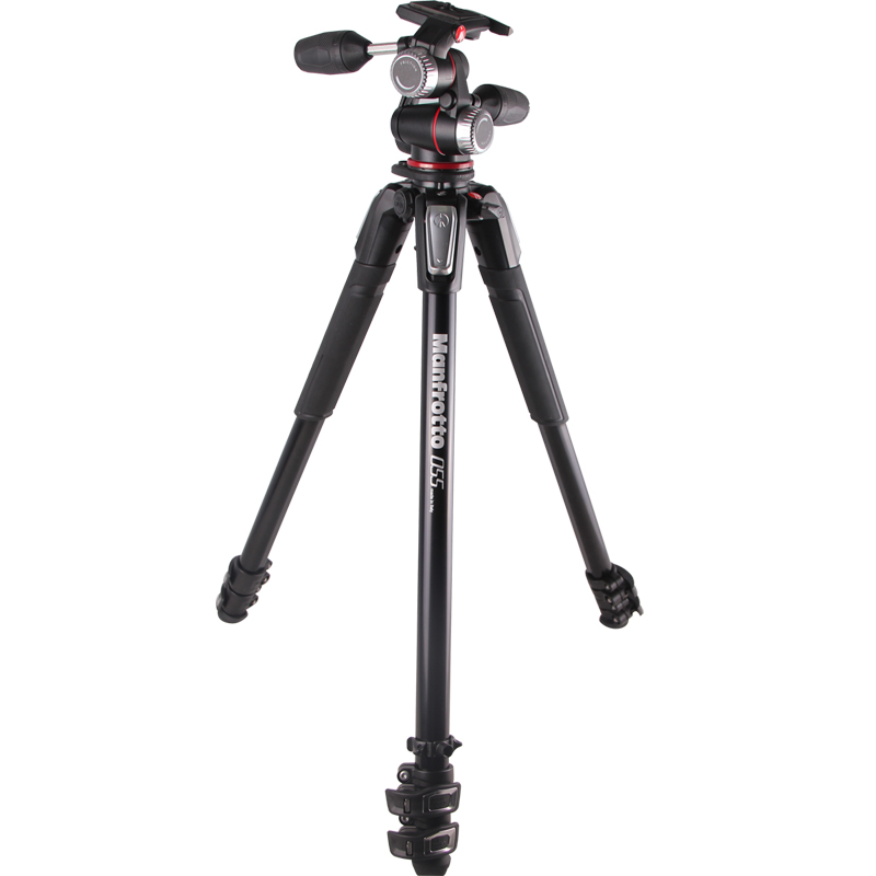 Manfrotto MK055XPRO3-3W Professional Tripod For SLR Camera Tripod Ball Head Monopod Changeable Load Bearing 8KG qzsd q999 portable tripod for slr camera tripod ball head monopod changeable load bearing 18kg