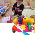 Crianças cozinha pretend play kitchen toys plástico abs engraçado play toy corte frutas legumes alimentos para crianças caçoa o presente