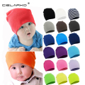 Cielarko Autumn Winter Warm Kids Hat Cotton Baby Hat Girl Boy Toddler Infant Kids Caps Candy Color Lovely Baby Beanies Hats 077
