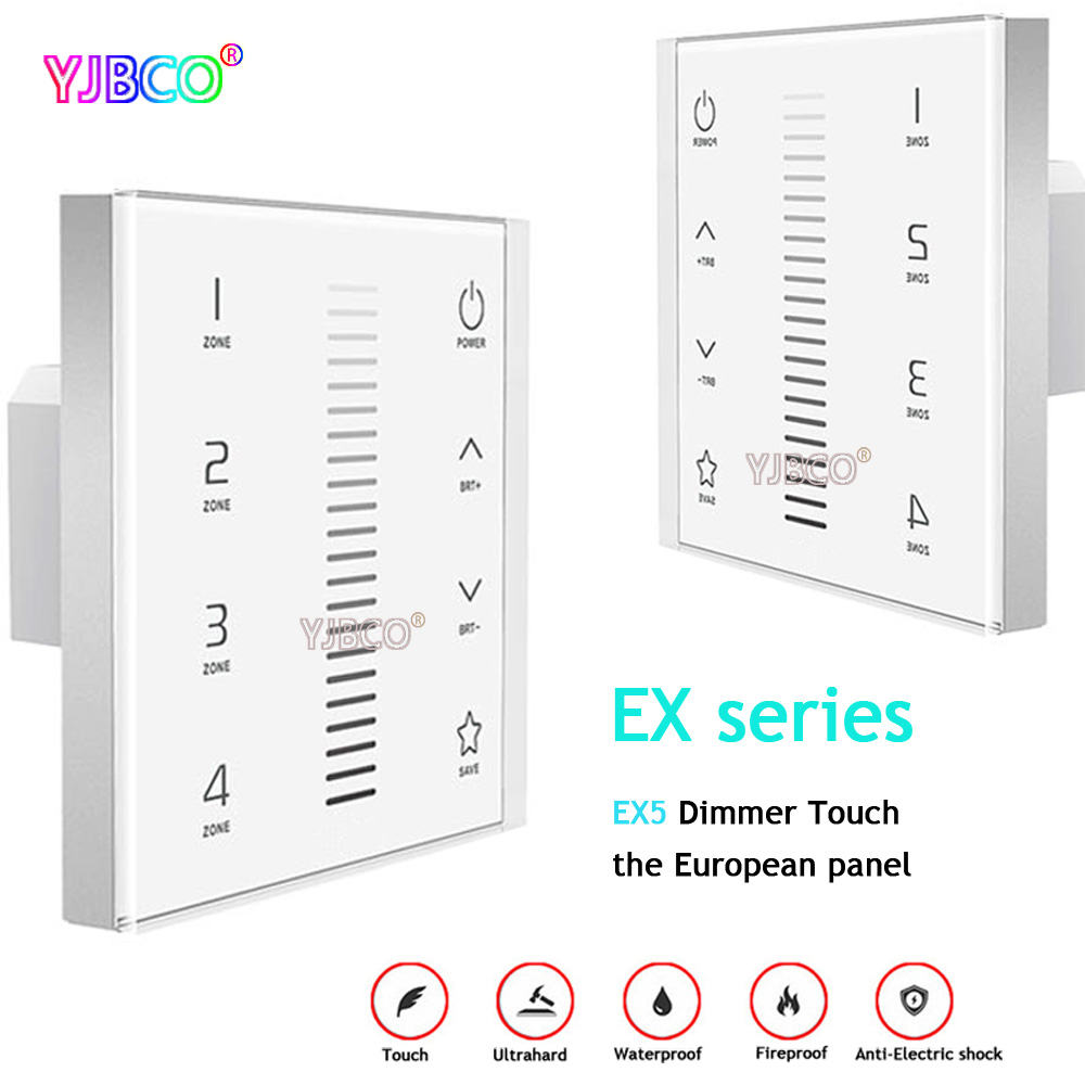 2.4G EX5 Wall Mount Touch Panel controller Dimming European-style touch panel;AC100-240V input;RF DMX512 signal output цены