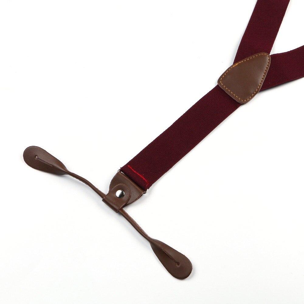 Новые подтяжки унисекс подтяжки регулируемые из искусственной кожи кнопка взрослых Твердые Простые теплые красный пояс BD704
