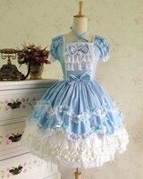 АО Лолита милый Лолита костюм ремень платье прекрасная печать Лолита розовый