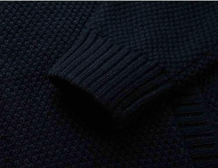 Pullover Männer Winter Warm Dicken Samt Sweatercoat Zipper Casual Strickjacke Denim Blau Rot Grau Männer Pullover Muster Strickwaren 3XL