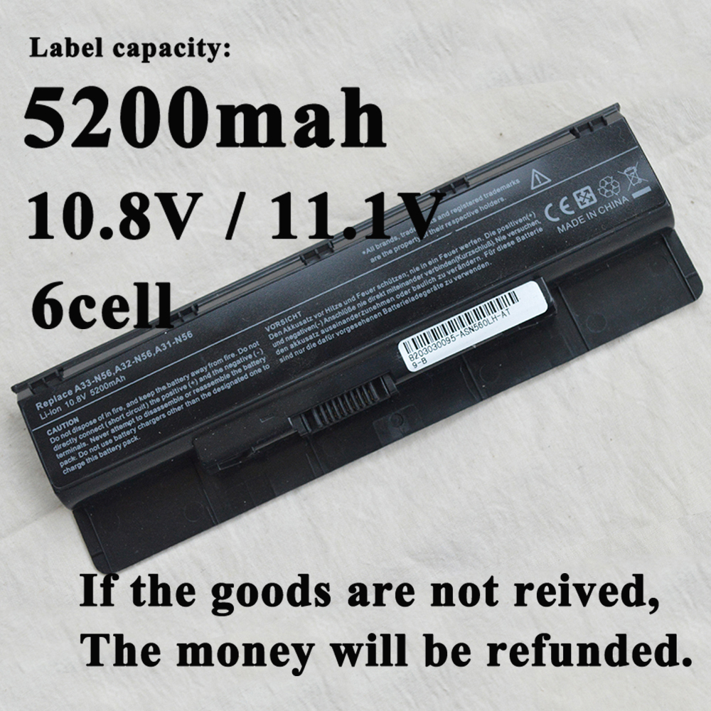 Laptop Battery A31-N56 A32-N56 A33-N56 For Asus N56 N56D N56DY N56J N56JK N56VM N56VV N56VZ N56JN N56JR N56V N56VB N56VJ A42-N46