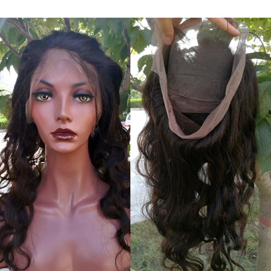 360 Lace Frontal Brazilian Body Wave Lace Frontal 360 Virgin Hair 7A Pre Plucked Lace Frontal Closure Bleached Knots free ship