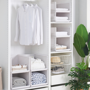 Image 5 - wardrobe partition board rack, drawer type clothes storage box, bedroom cabinet, interlayer wardrobe, storage rack.