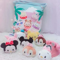 A Bag Of Mickey Chip Plush 8 pcs Japanese Animation Soft Pillow Corner Bio Cartoon Doll for Kids children
