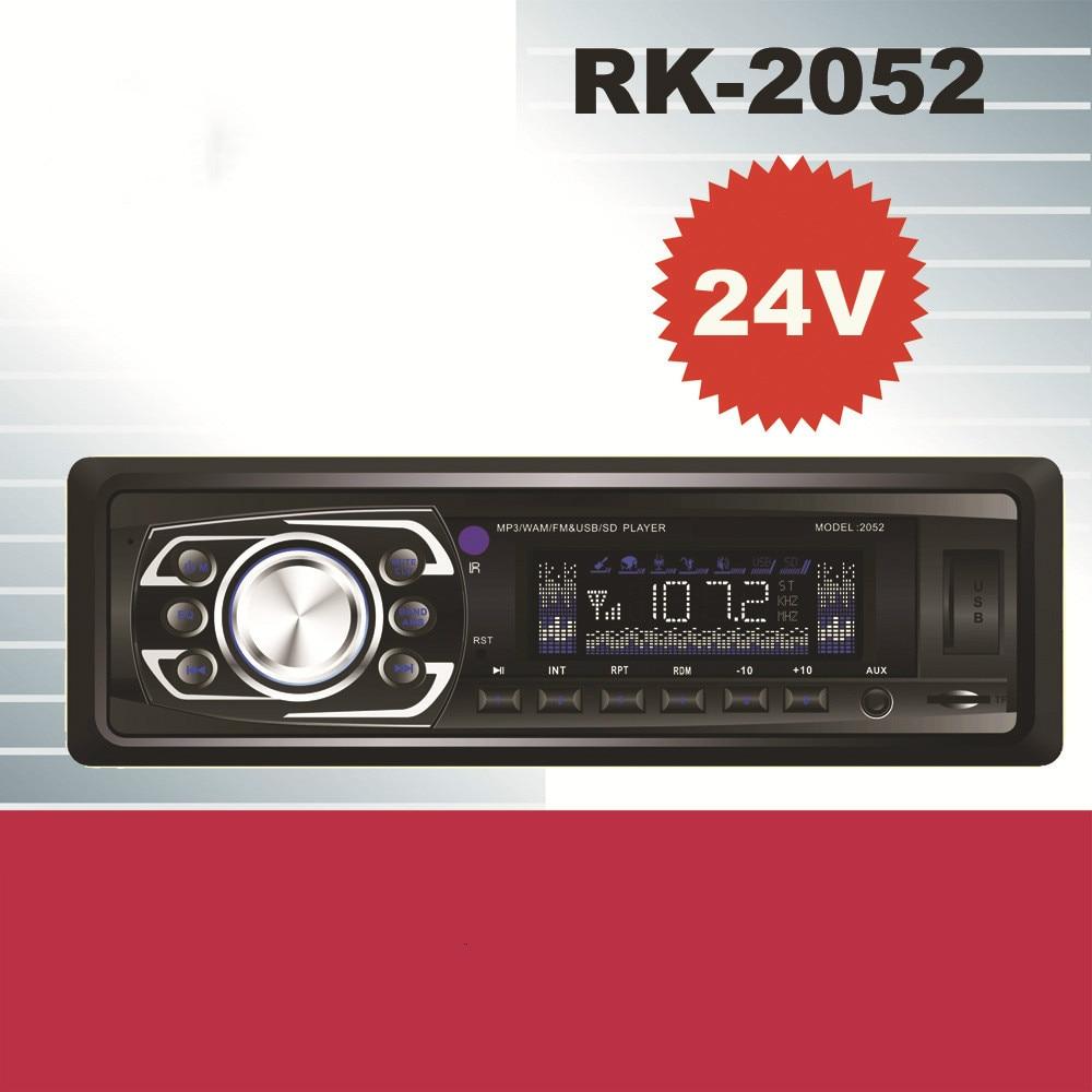 24V/12V 12pin Car radio with Bluetooth Car Audio Stereo FM radio MP3 player USB / SD / AUX interface for Bus truck car radio bluetooth aux car radio player with usb auto mp3 music player fm radio players 12v bluetooth car kit for bmw vw