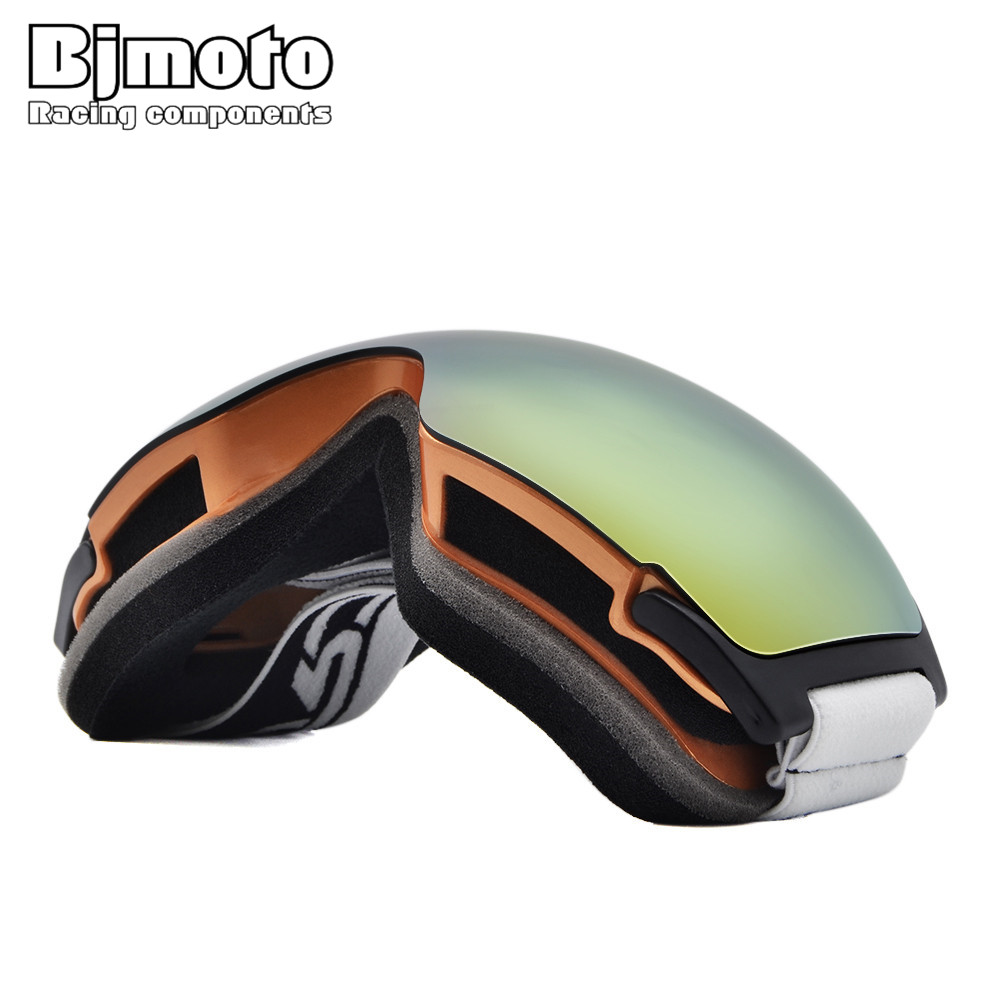 Bjmoto outdoor snow glasses Ski Snowboarding Goggles Anti-fog UV Ski Goggles Snowboard Sunglasses sports skiing goggles glasses
