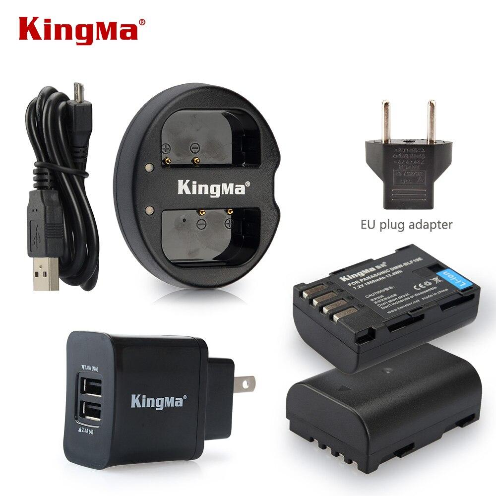 KingMa DMW-BLF19 BLF19E Battery +Charger +Wall Charger for Panasonic Lumix DMC-GH3 DMC GH3 GH4 DMC-GH4 Batteries bateria celular battery 2 pack charger for panasonic dmw blh7 dmw blh7e dmw blh7 blh7e and lumix dmc gm1 gm5 gf7 dm cgm7 digital camera