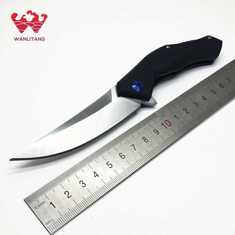 WLT Blue Moon Pocket Survival Camping Folding font b Knife b font D2 Blade font b