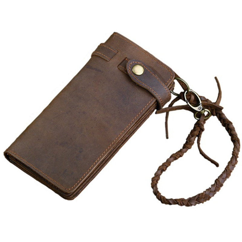 Imucaplus Brand Vintage Male Hasp Long Cow Leather Wallet Purse Card Holder for Men casual weaving design card holder handbag hasp wallet for women