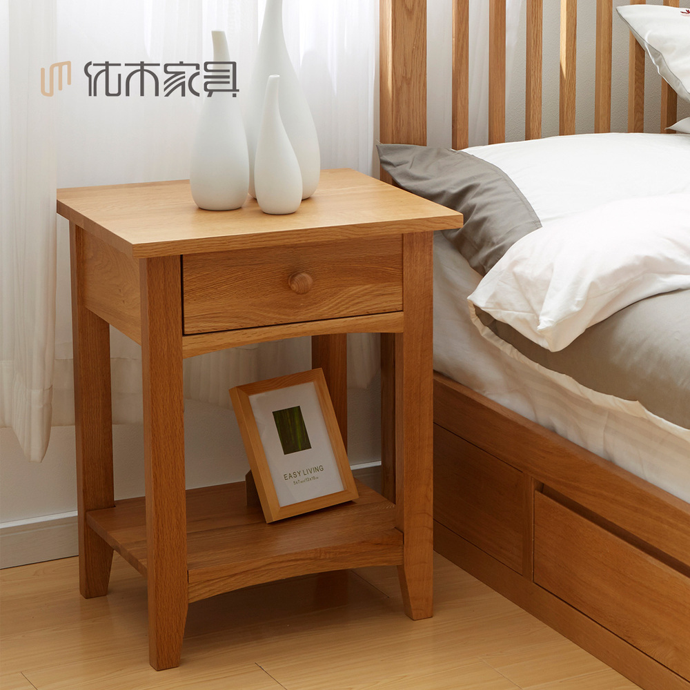 Pure solid wood imported oak single drawer bedside cabinet drawers pure solid wood imported oak single drawer bedside cabinet drawers small cabinet wood cabinet with minimalist modern furniture s in cabinet catches from watchthetrailerfo
