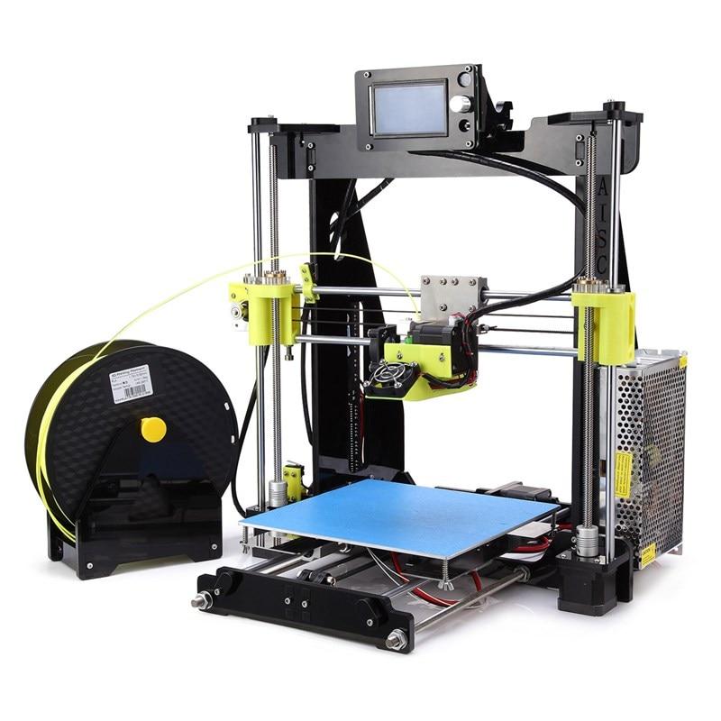 New Arrival i3 3D Printer Kit DIY Matel Aluminium Easy Assemble 3D Printing Kits 210 x 210 x 225mm Printing Size new 225mm cabinet knobws