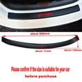 Автомобильные аксессуары  искусственная кожа  углеродное волокно  Стайлинг  задний бампер  багажник  защитная пластина для Fiat Panda