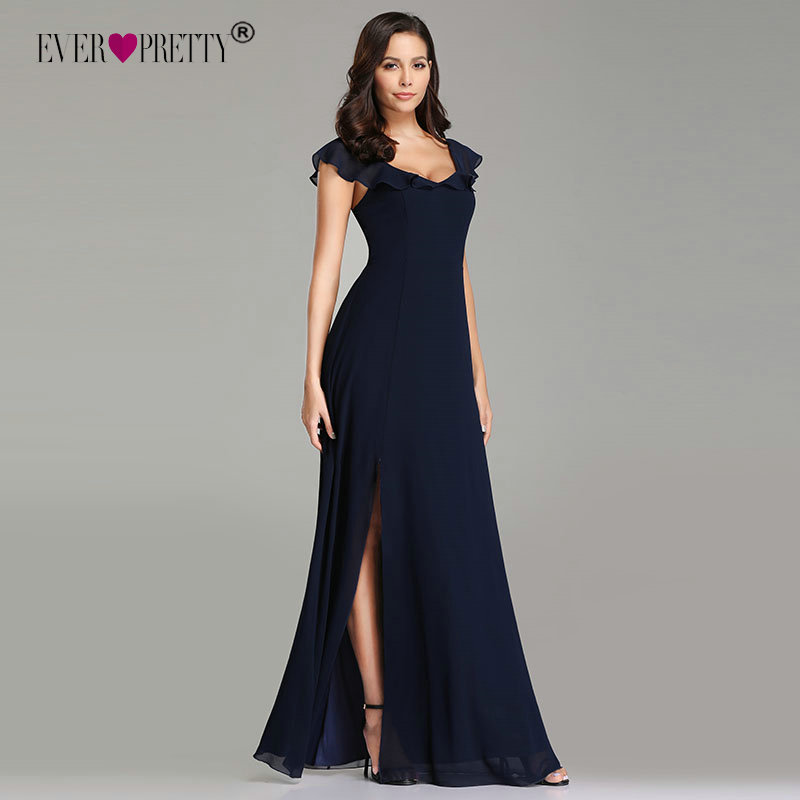 Detail Feedback Questions about Navy Blue Evening Dresses Ever ... cbcbeb7a79be
