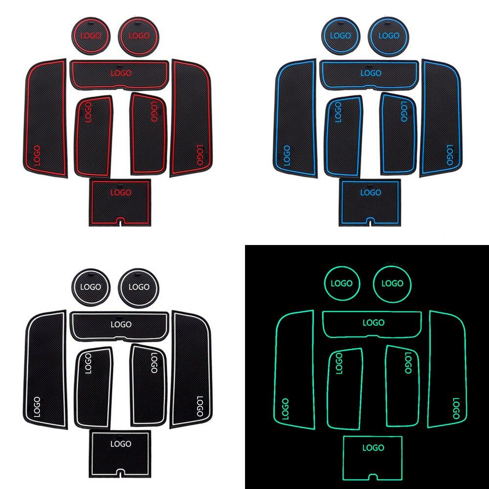 For VOLVO S60 Car Styling Cup Mat Non-slip Mats Car Door Groove Mat Latex Anti Slip Mat Stickers 8pcs Per Set Auto Accessories car styling mat interior accessories case for mitsubishi car styling anti slip mat