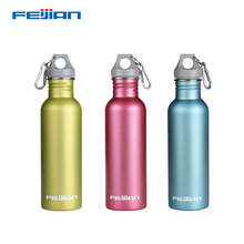 Feijian Sport Water Bottle Stainless Steel Large capacity Portable Wide Mouth Drinking Outdoor Cycle Kettle flask camp