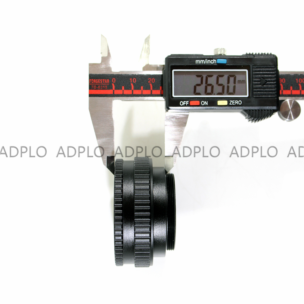 ADPLO 15mm to 26 5mm Macro Extension Tube M42 to M42 Adjustable Focusing Helicoid Adapter 15 26 5mm Screw mount Lens Camera in Lens Adapter from Consumer Electronics