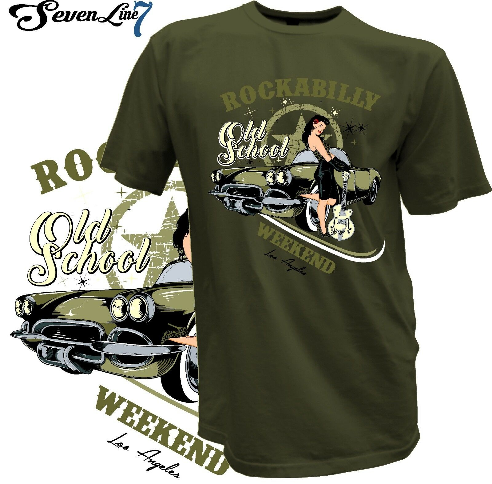 2019 Cool 2018 Fashion Cool Male Tee <font><b>Shirts</b></font> Pin Up Bombshell Queen Girl Rockabilly Hot Rod Old School <font><b>V8</b></font> <font><b>T</b></font> <font><b>Shirt</b></font> Unisex Tee image